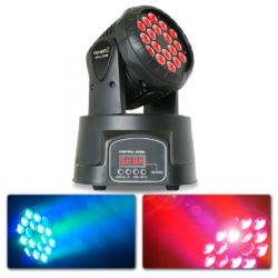BeamZ MHL108MK2 Compacte moving head 18x 3W RGB LEDs | Spinze.nl