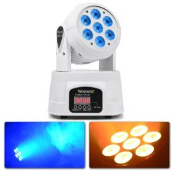 BeamZ MHL74 Movinghead Wash met 7x 10W Quad LEDs - WIT | Spinze.nl