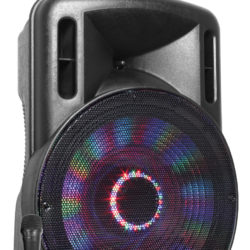 "Fenton FT15LED karaoke speaker 800W 15"" met LED verlichting 