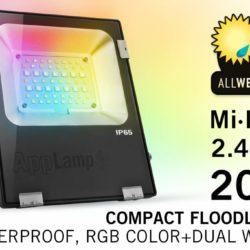 Mi·Light Mi-Light 20W RGBWW Kleur + Dual White LED Schijnwerper. Waterdicht IP65   Spinze.nl