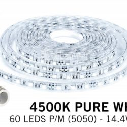 Neutraal Wit IP68 Waterdicht Led Strip | 5m 60 Leds pm Type 5050 | Spinze.nl