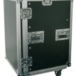 "Power Dynamics PD-F16U8 19"" Flightcase Rack met zwenkwielen 16HE + 8HE 